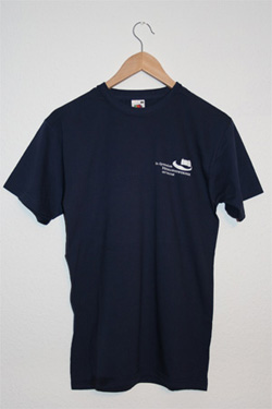 T-Shirt-blau-rundhals