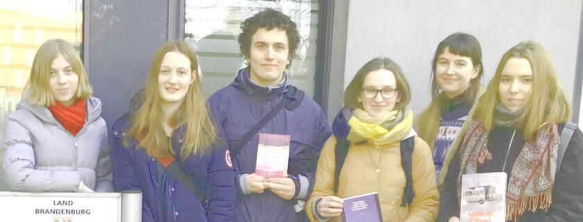 Unsere Schüler*innen bei der Landesjury des Prix des lycéens allemands