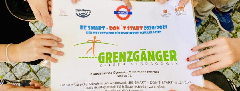 """Klasse 7A gewinnt beim Wettbewerb """"Be smart- Don't start!"""""""